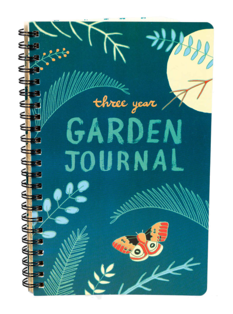 Photo of a Three Year Garden Journal.